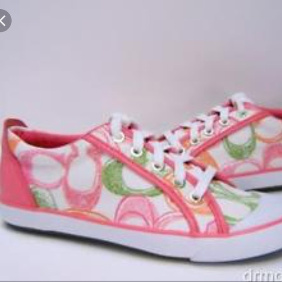Coach Shoes | Pink Coach Tennis Shoes